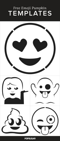Pin for Later: Here Are the Emoji Pumpkin Templates of Your Dreams