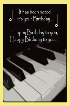 Happy Birthday (to a pianist)
