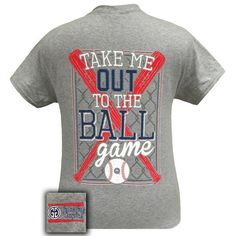 Details: Take Me Out To The Ballgame! This classic fit pre-shrunk jersey knit tee is 6-ounce 100% cotton.