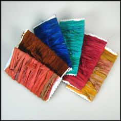 Recycled sari silk ribbon