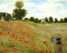 أكثر من رائعة وعليها بصمة مونت تعلن عنه وكيف أن اللون الأحمر أكسب الرسم عمقاً وتجسيماً !!                        one of my all time favorite Monet painting. loved seeing the original!