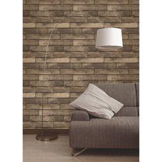 Fine Decor Wooden Plank Wallpaper Gold / Brown (FD31289)