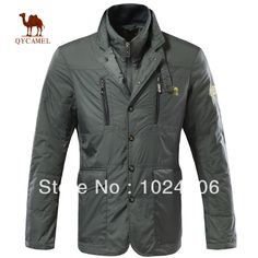 jacket man Spring 2014 dust coat  free shipping Fall Winter Solid colur Jacket Zip Trench coat clothes casual warm Casual wind $50.55