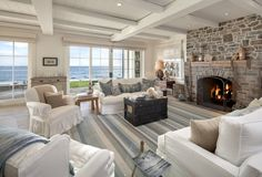 Dennis Miller Lists Beach Mansion for $22.5M  The comic actor's wife, Carolyn Espley-Miller, said she designed it with a 'strong vision of a serene, whitewashed house on the sea.'