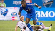 Didier Drogba scored three goals in his second Major League Soccer game as the Montreal Impact defeated the Chicago Fire in a wide-open match Saturday night. Major League Soccer, Soccer Games, Chicago Fire, Athlete, Games Of Football