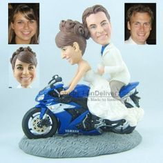 Motorcycle Wedding Cake Toppers, Motorbike Wedding Cake Toppers