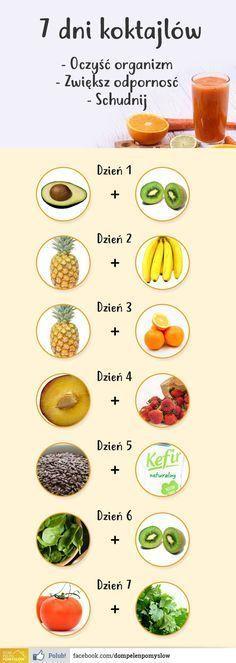 7 koktajli pij jeden dziennie a zobaczysz co si? stanie z Twoim cia? Healthy Drinks, Healthy Recipes, Healthy Water, Healthy Life, Healthy Eating, Digestive Detox, Lemon Diet, Fat Foods, Cocktails