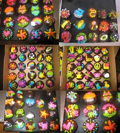 Cupcakes with assorted piped designs