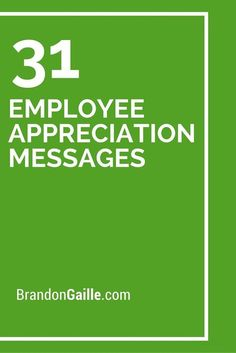 31 Employee Appreciation Messages