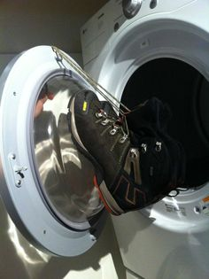 How to dry your shoes in the dryer!
