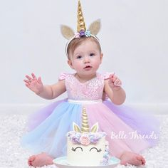 Unicorn outfit-unicorn tutu dress-unicorn birthday dress-unicorn dress-first birthday outfit-first birthday set-birthday set-unicorn First Birthday Dresses, Baby Girl 1st Birthday, Birthday Tutu, Unicorn Birthday Parties, First Birthday Parties, First Birthdays, Birthday Ideas, First Birthday Outfit Girl, Unicorn Dress Girls