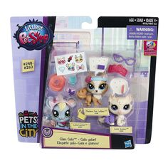 Littlest pet Shop Pets City Glam Gala Figures Set