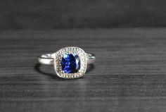 Sapphire Engagement Ring Alternative Wedding by RubyandJuniper