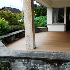 WPC terrace, smooth without wood thorns #wpc #wpcdeck #deck #decking #outdoordecking #floor #outdoorflooring