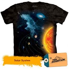 Solar System Shirt Tie Dye Earth Sun Planets T-shirt Adult Tee Space Shirts Available in Small, Medium, Large, XL, & Officially Licensed View Stars And Solar System, Solar System For Kids, Sistema Solar, Solar System Poster, Space Boy, Cool Posters, Aliens, Screen Printing, Tees