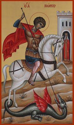 Hl Georg, Saints, Orthodox Icons, Saint George, Ikon, Jesus Christ, Greek, Christian, Ideas