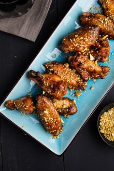 Korean BBQ styled chicken wings!