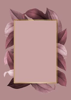 Hintergrund gold Golden frame on a pink leafy background vector Framed Wallpaper, Flower Wallpaper, Screen Wallpaper, Iphone Wallpaper, Golden Wallpaper, Black Wallpaper, Photo Pour Instagram, Instagram Frame, Story Instagram