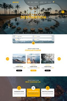 website design template - Famous Last Words Hotel Website Design, Travel Website Design, Website Design Layout, Website Design Inspiration, Web Layout, Travel Design, Layout Design, Website Designs, Website Ideas