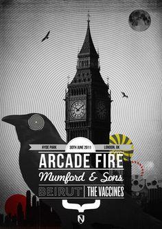 Arcade Fire ad Uk London