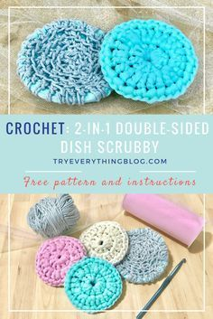 Crochet Double Sided Dish Scrubby Free Pattern