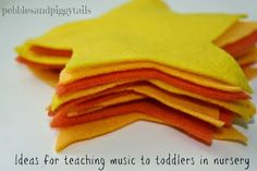 Ideas for Teaching Music to Toddlers in Nursery.  Great ideas for LDS Primary nursery music leader