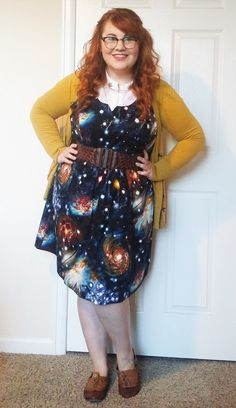 Heart and Solar System Dress #mostloved #modclothexclusive #cardi #layers