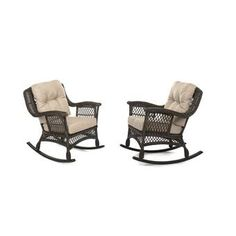 With its luxury looks and flavor, the rocking chair makes an alluring addition to any outdoor living space. Feature exquisitely woven wicker with gently sloping curves and soft yet supportive cushioning. Seat cushions are designed and craft with poly Pool Furniture, Best Outdoor Furniture, Furniture Sets, Outdoor Rocking Chairs, Patio Chairs, Beige Cushions, Seat Cushions, Club Chairs, Wicker