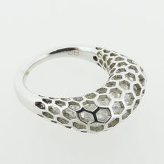 ISLET RING | SQUARE | STERLING SILVER | CLEAR STONES dougbucci.bigcartel.com