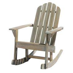 Greyed acacia garden rocking chair Ontario