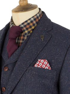 Three piece Donegal tweed suit.