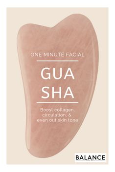 """Gua sha is a facial technique rooted in traditional Chinese medicine practice that works to even the skin tone, boost circulation, and support collagen production. Touted as a """"one-minute facial,"""" the Beauty Care, Beauty Skin, Beauty Hacks, Diy Beauty, Face Beauty, Beauty Guide, Homemade Beauty, Beauty Ideas, Beauty Secrets"""