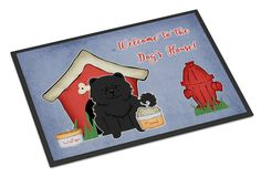 Dog House Collection Chow Chow Black Indoor or Outdoor Mat 24x36 BB2897JMAT