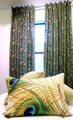 peacock feather pillows