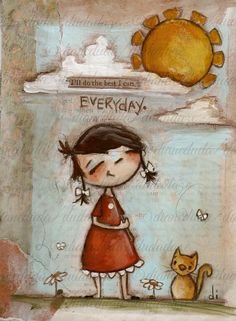 Cereal Box Art  Everyday  Original Artwork on by DUDADAZE on Etsy -sold-©dianeduda/dudadaze