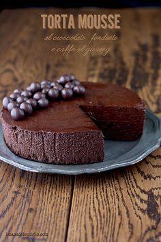 La tana del coniglio: Torta mousse al cioccolato fondente e caffè al gin...