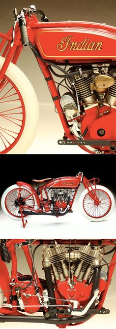 """Offered by Bonhams this August in Carmel, this Indian track racer was nicknamed the """"Harley Eater"""" for its absolute domination on Southern California tracks in the 1920s and '30s."""