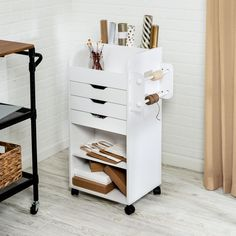 Craft Storage Cart, Rolling Storage Cart, Vinyl Storage, Craft Storage Drawers, Storage Chest, Craft Storage Furniture, Organizing Drawers, Arts And Crafts Storage, Storage Boxes