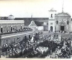 Conmemoración del Centenario del 19 de abril de 1810 en la Plaza Baralt a los pies del Convento (19 de Abril 1910)