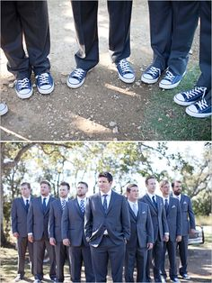 converse for the groom and his men