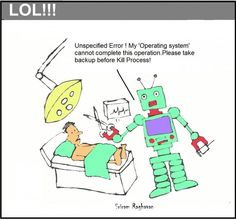 Robotic Surgery - Comics by Sriram Raghavan at touchtalent 74050