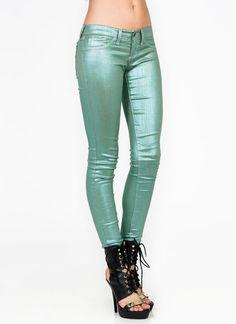 metallic skinny jeans $70.70