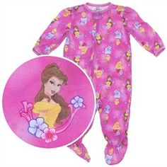 Disney Princess Knit Footie Pajama for Infant Girls