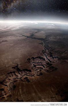 Grand Canyon as seen from Outer Space… So vast!! via #denebofficial