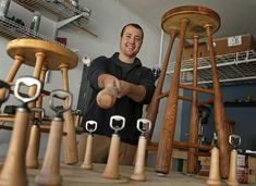 Local 'serial entrepreneur' turns baseball bats into cool barstools | Dallas Morning News
