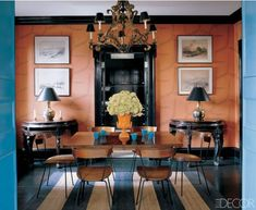A Manhattan dining room by Miles Redd.