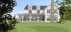 Nu under sensommaren/hösten har jag jobbat med detta projektet - att göra arkitektritningar till ett New England hus med en fantastisk sjöu...