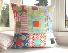 color me retro cushion cover by thefloralsuitcase on Etsy
