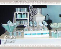 Festa Barbie Vintage em Azul Tiffany   Festa Feita! Papelaria personalizada para festas! Com Amor para você!