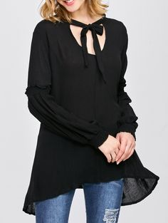 $10.56 Loose Bow Tie Blouse